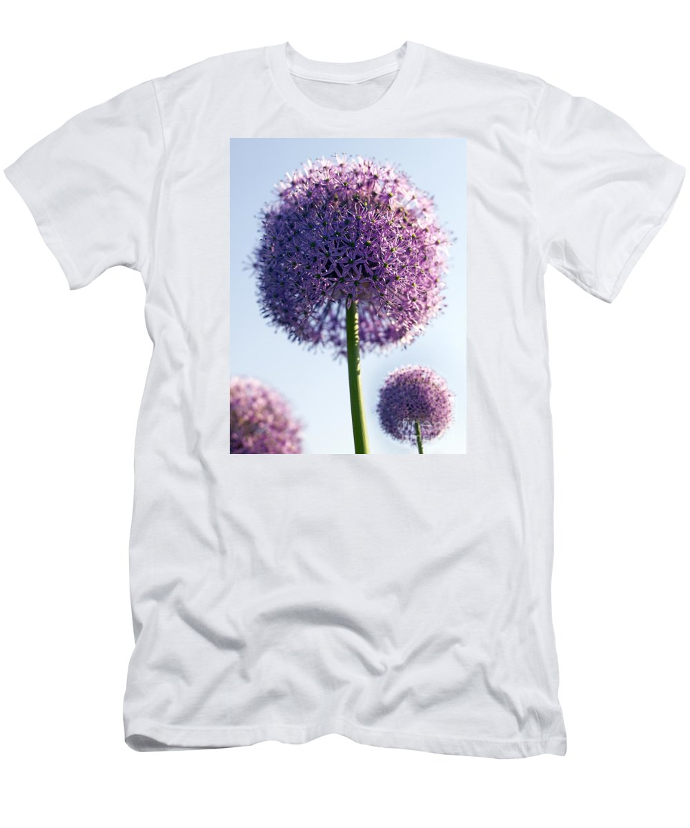 Allium Men's T-Shirt (Athletic Fit) featuring the photograph Allium Flower by Tony Cordoza