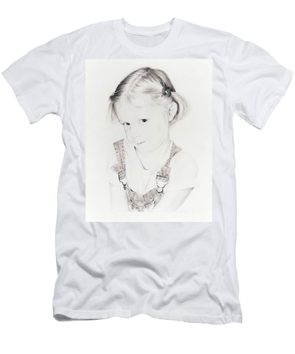 Portrait Men's T-Shirt (Athletic Fit) featuring the drawing Almost Perfect by Rachel Christine Nowicki