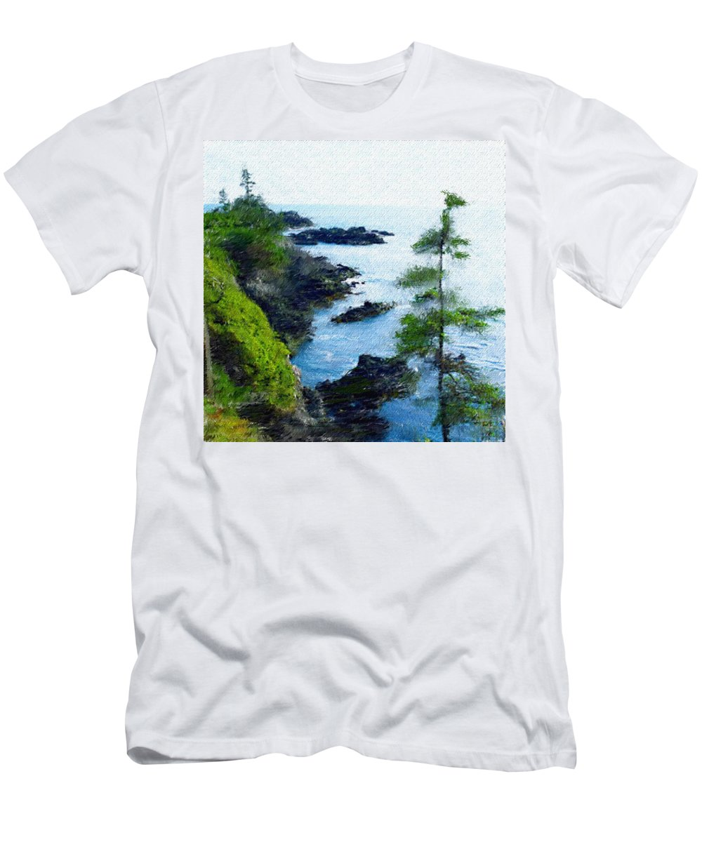 Digital Photograph Men's T-Shirt (Athletic Fit) featuring the photograph Along The West Coast 1 by David Lane