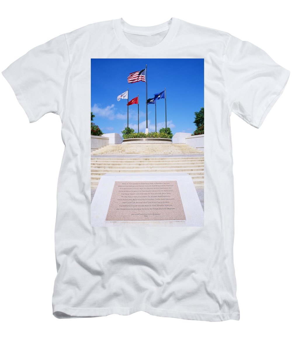 American Men's T-Shirt (Athletic Fit) featuring the photograph American Memorial Park by Greg Vaughn - Printscapes