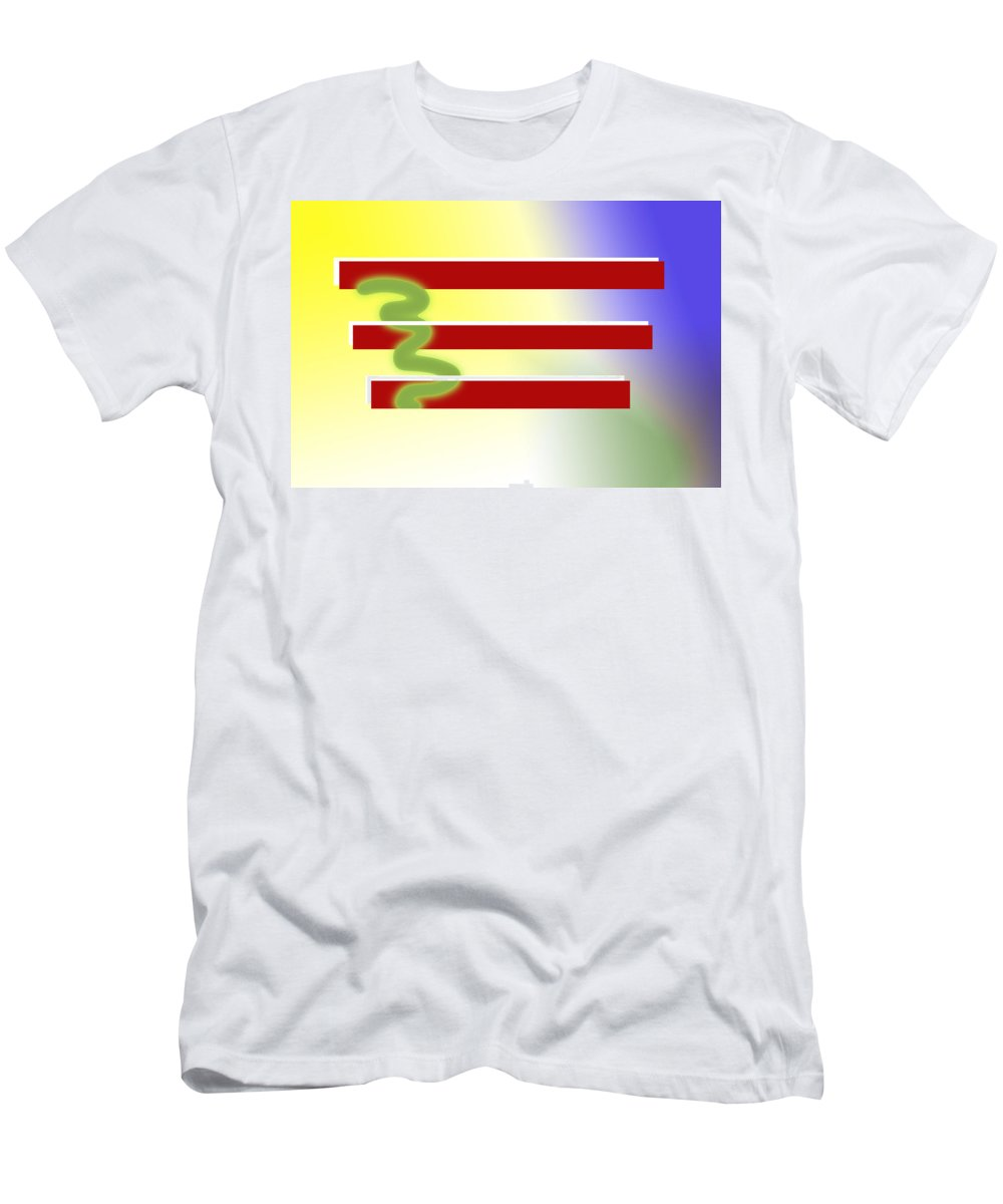 Modern Art Men's T-Shirt (Athletic Fit) featuring the digital art American Tears by Donna Blackhall