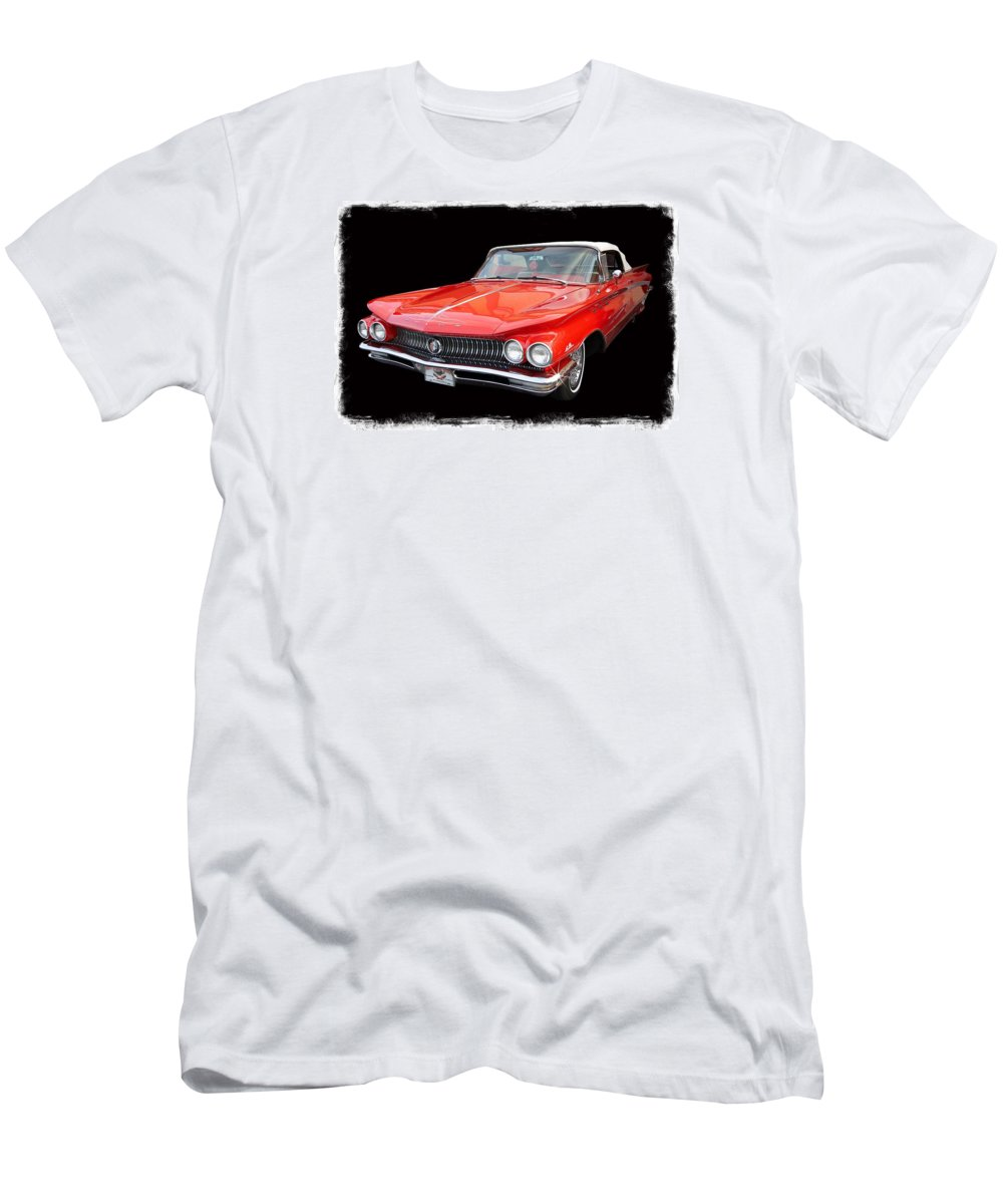 Red Buick Men's T-Shirt (Athletic Fit) featuring the photograph America's Memories by John McCuen
