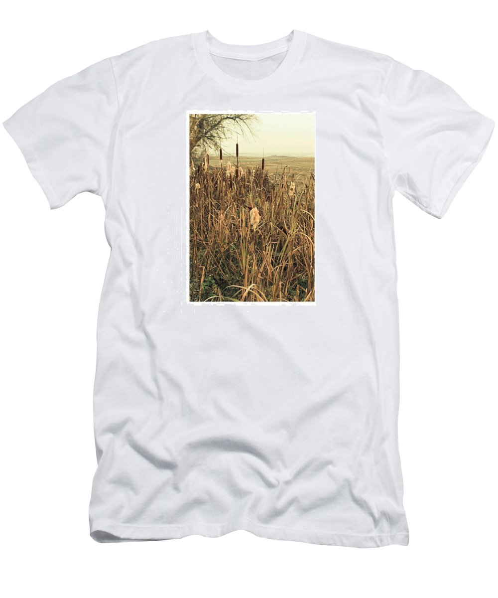 Stausee T-Shirt featuring the photograph *among The Reeds  #landscape by Mandy Tabatt