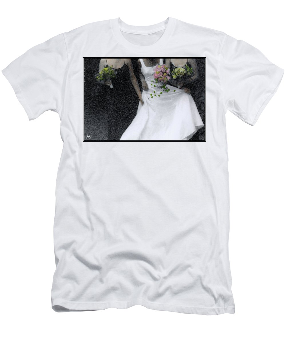 Wedding Men's T-Shirt (Athletic Fit) featuring the photograph An Intimate Moment At The Wedding by Wayne King