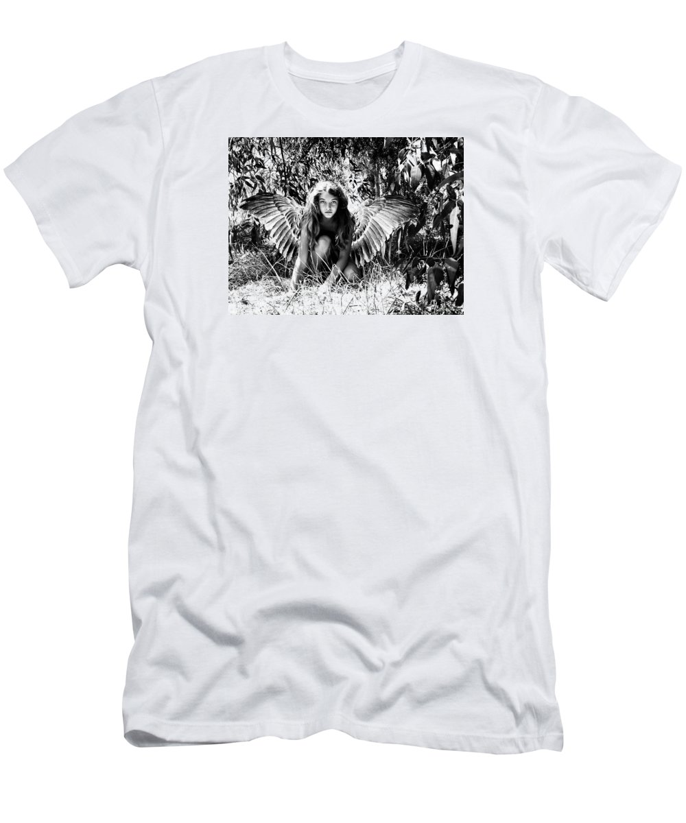 Angel Men's T-Shirt (Athletic Fit) featuring the photograph Angel Of The Wild by Diana Haronis