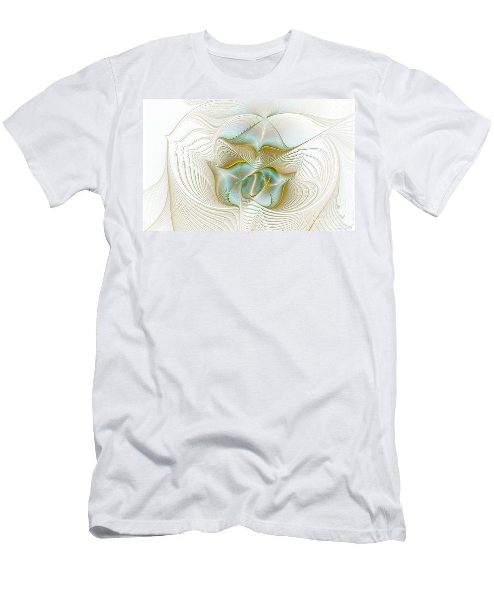 Digital Men's T-Shirt (Athletic Fit) featuring the digital art Angelic Forces by Deborah Benoit