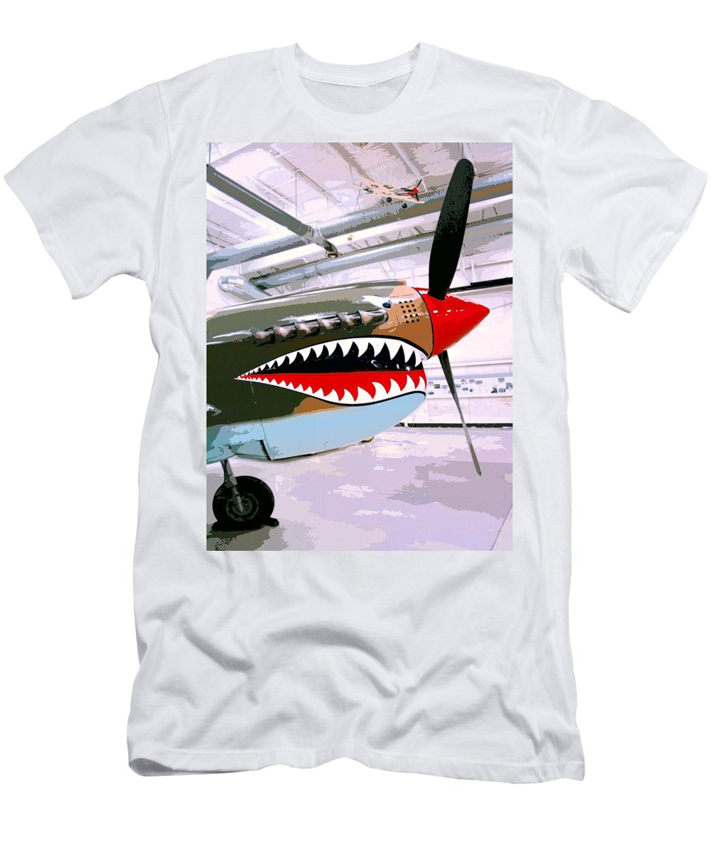 Ps Air Museum Men's T-Shirt (Athletic Fit) featuring the photograph Anger Management Palm Springs Air Museum by William Dey