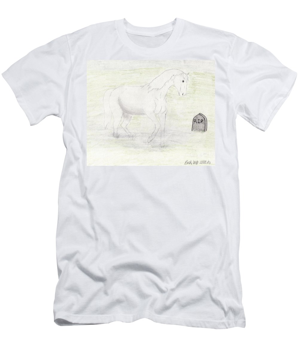 Apocalypse Men's T-Shirt (Athletic Fit) featuring the drawing Apocalypse Death by Rebecca Volke
