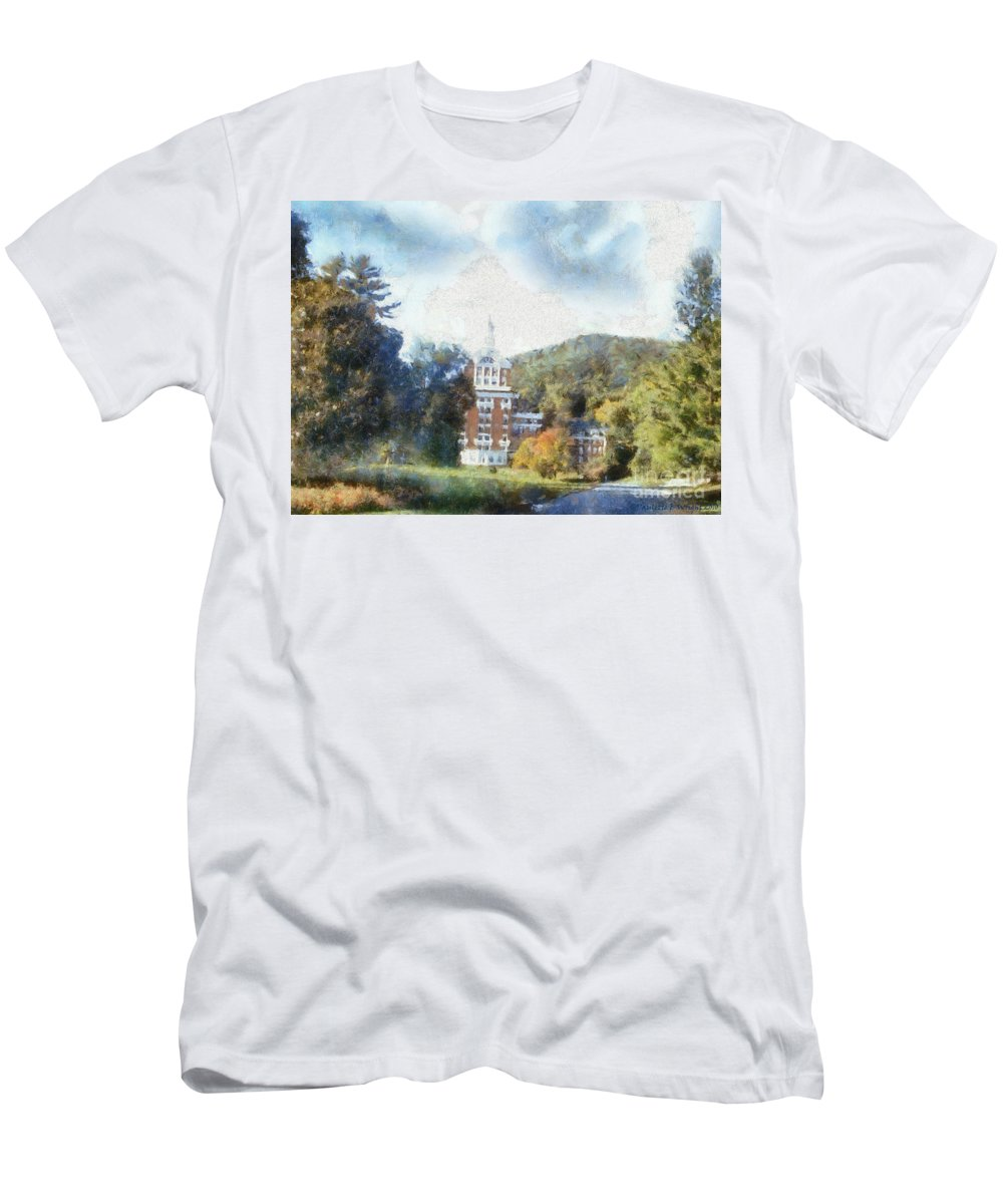 Homestead Men's T-Shirt (Athletic Fit) featuring the photograph Approaching The Homestead by Paulette B Wright