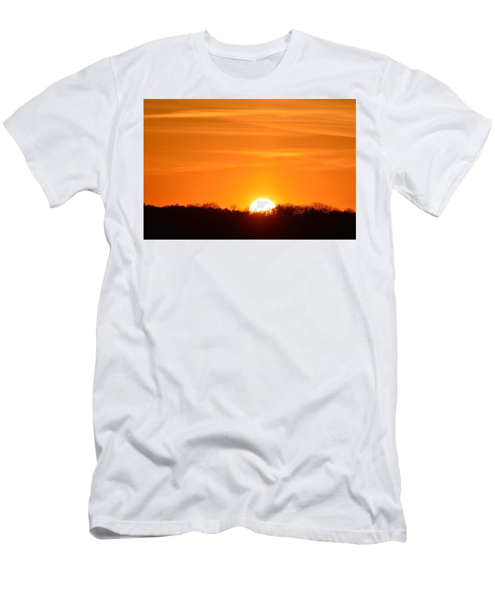 Abstract Men's T-Shirt (Athletic Fit) featuring the photograph April 15-2016 Sunset by Lyle Crump