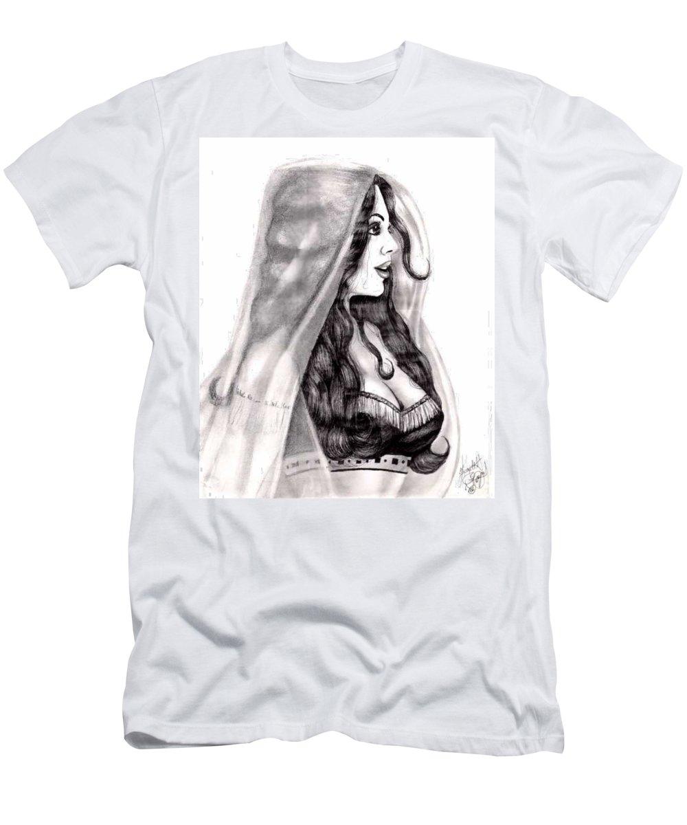 Figure T-Shirt featuring the drawing Arabian Beauty by Scarlett Royal