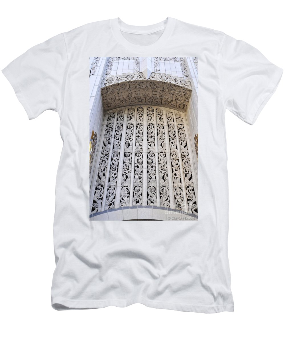 Clay Men's T-Shirt (Athletic Fit) featuring the photograph Architecture Downtown Los Angeles by Clayton Bruster
