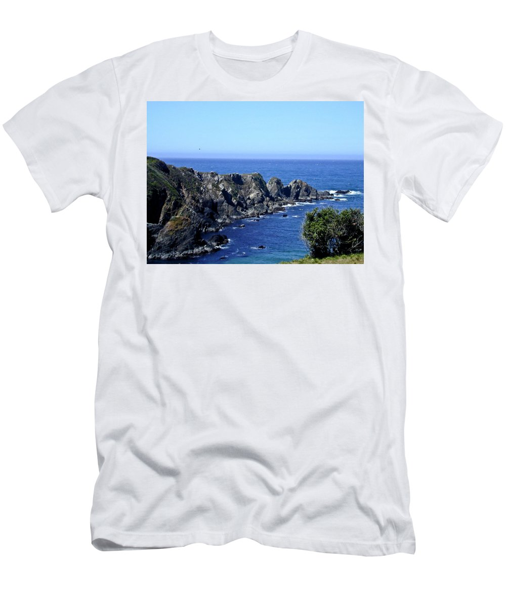 Arena Men's T-Shirt (Athletic Fit) featuring the photograph Arena Point California by Douglas Barnett