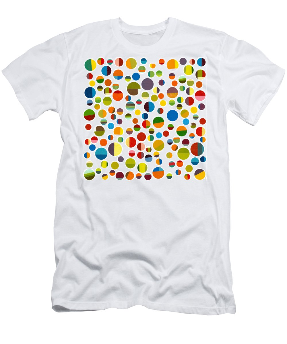 Toys Men's T-Shirt (Athletic Fit) featuring the digital art Found My Marbles 2.0 by Michelle Calkins