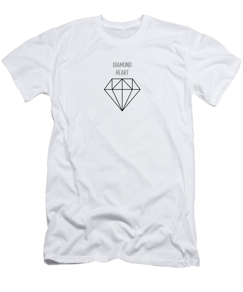 Background Men's T-Shirt (Athletic Fit) featuring the drawing Pattern With Diamonds by Alina Krysko