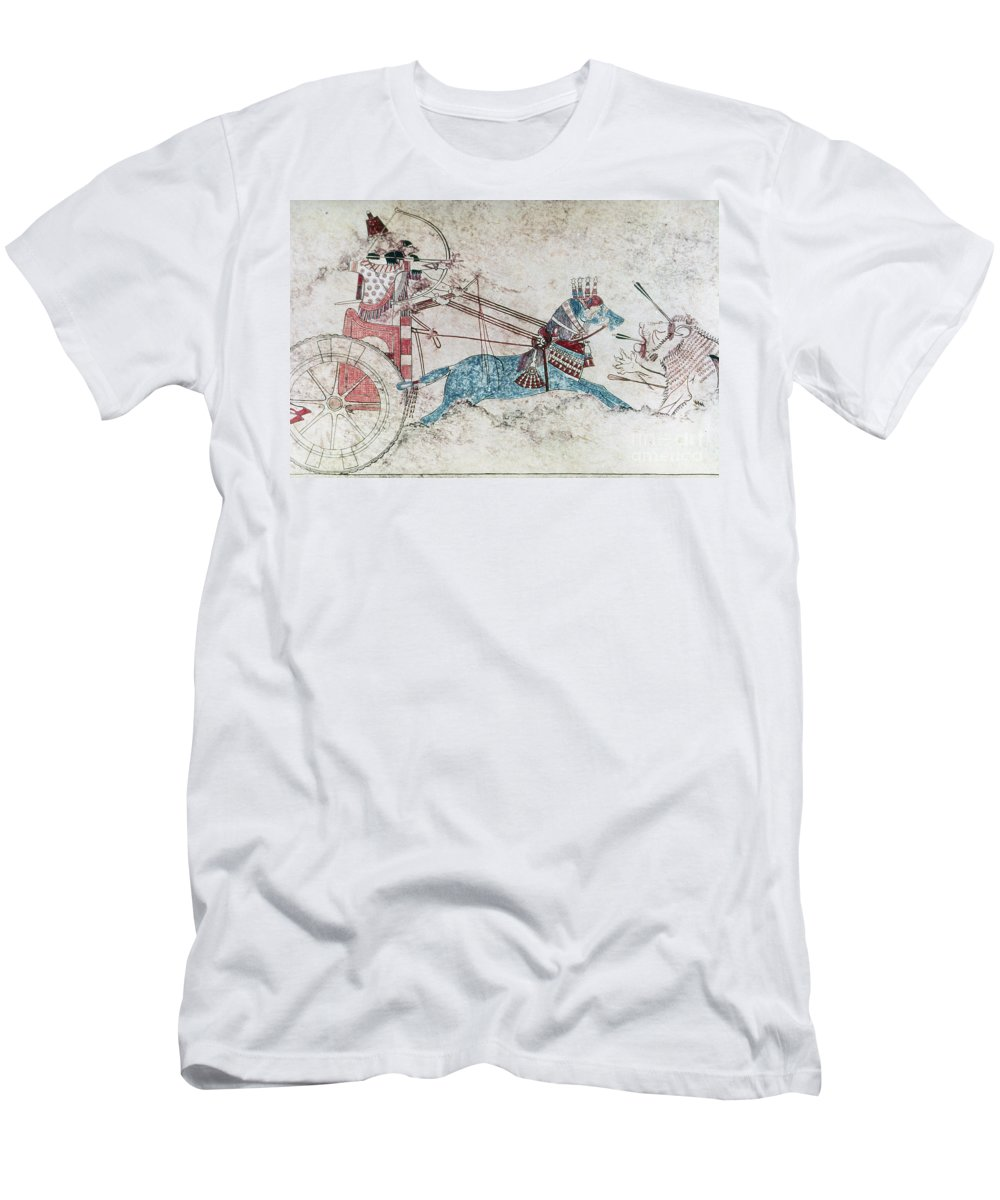 730 B.c. Men's T-Shirt (Athletic Fit) featuring the photograph Assyrian King 730 Bc by Granger