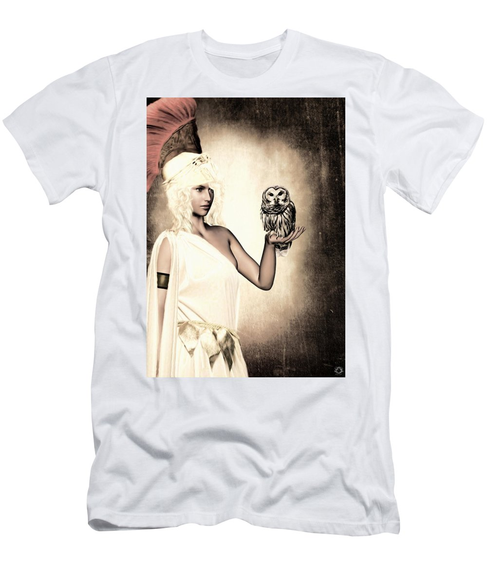 Athena Men's T-Shirt (Athletic Fit) featuring the photograph Athena by Lourry Legarde