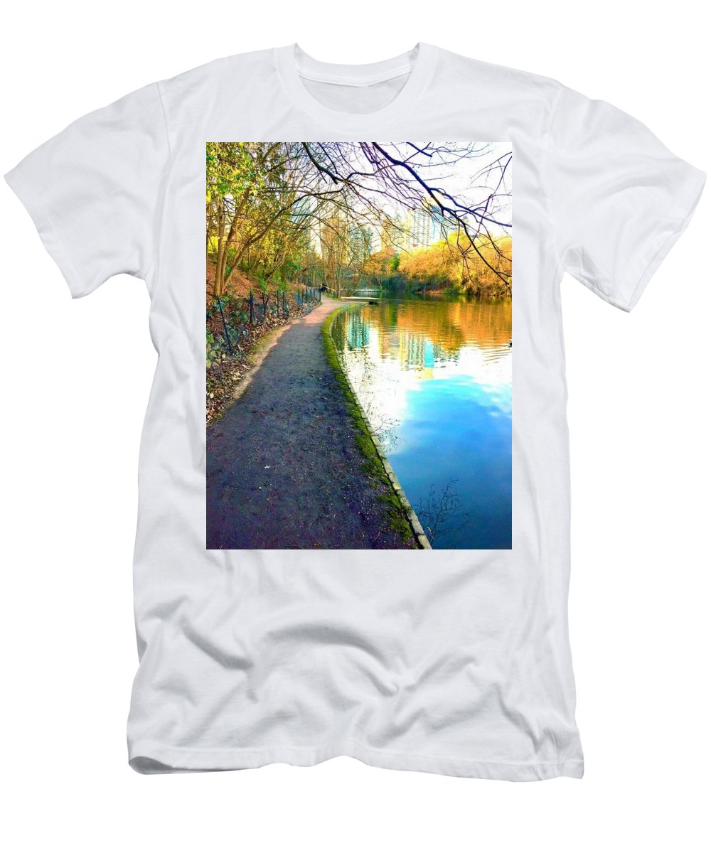 Men's T-Shirt (Athletic Fit) featuring the photograph Atlanta Park by Richard Brooke