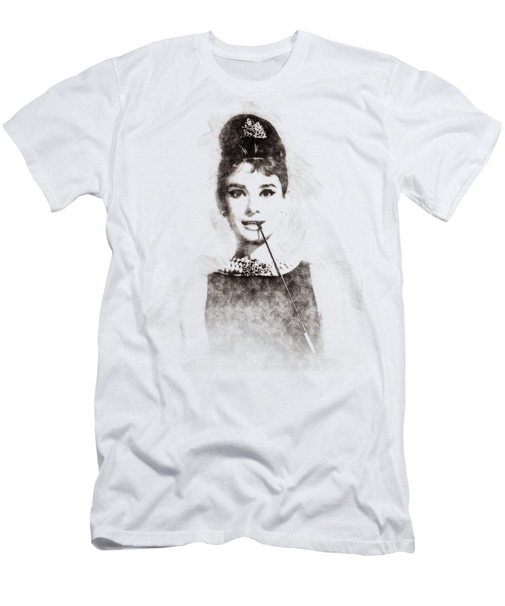 Audrey Hepburn Portrait 01 T-Shirt for Sale by Pablo Romero