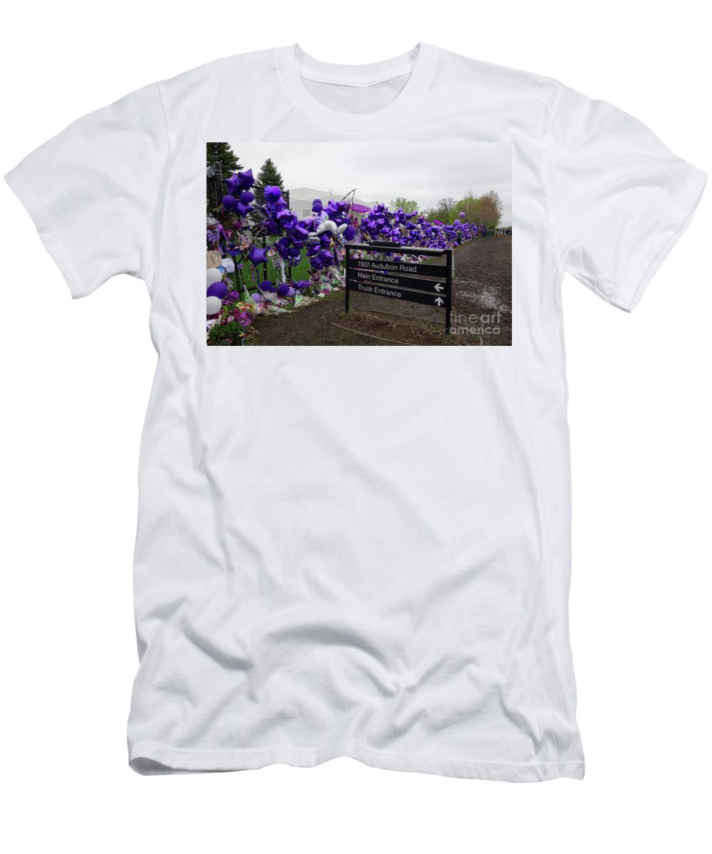 Prince Memorial Men's T-Shirt (Athletic Fit) featuring the photograph Audubon Road by Jacqueline Athmann