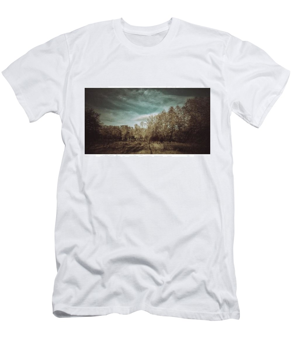 Ndh Men's T-Shirt (Athletic Fit) featuring the photograph Auf Der Wiese Kein by Mandy Tabatt