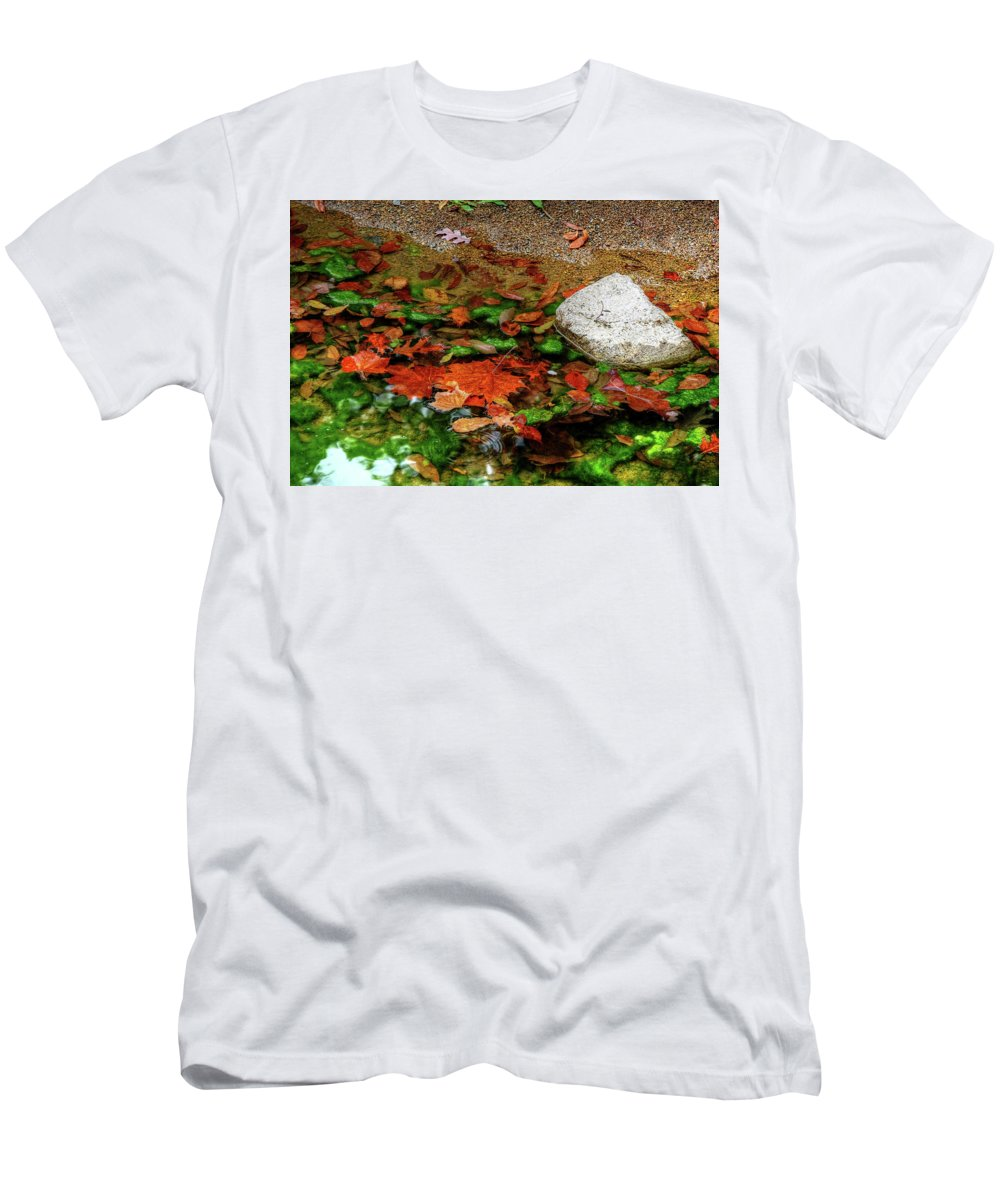 Autumn Leaves Men's T-Shirt (Athletic Fit) featuring the photograph Autumn Mix by Ronda Ryan