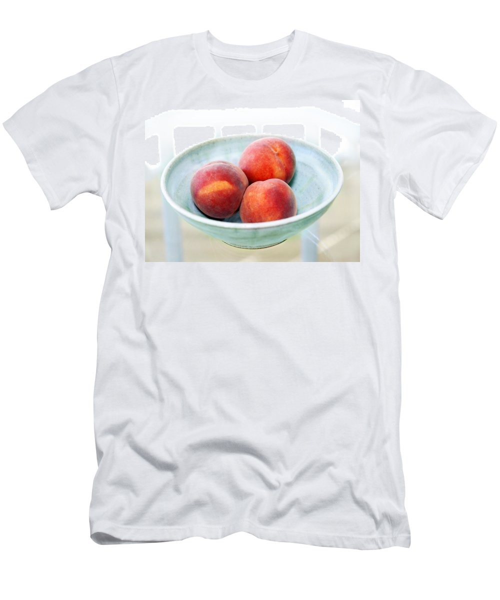 Peaches Men's T-Shirt (Athletic Fit) featuring the photograph Autumn Peaches by Marilyn Hunt