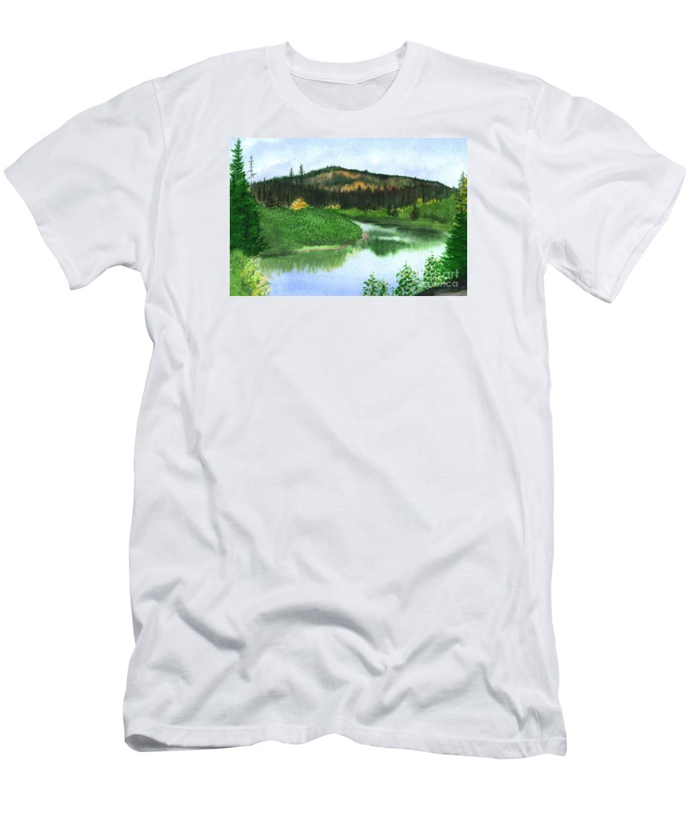 Autumn Men's T-Shirt (Athletic Fit) featuring the painting Autumn Transition by Lynn Quinn