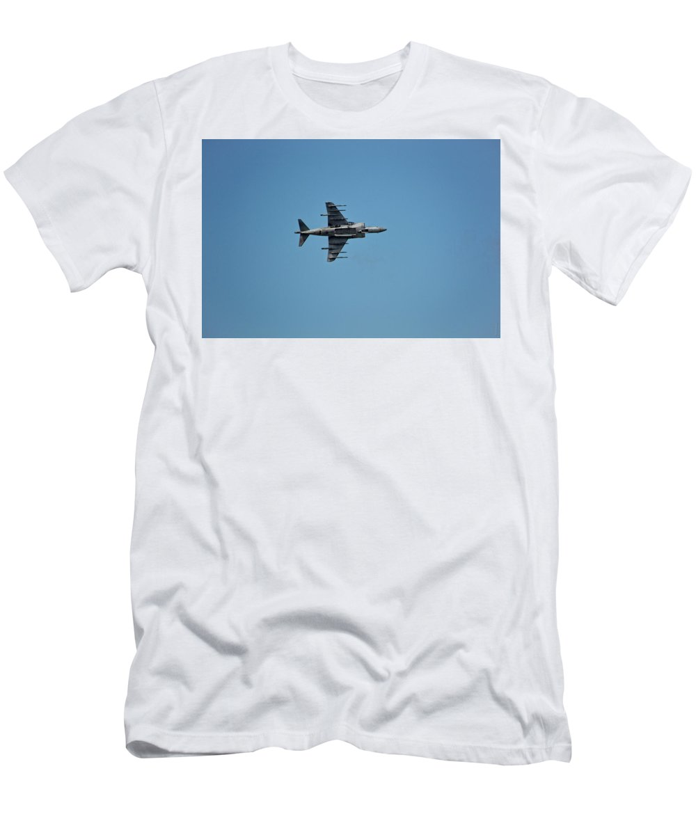 South Dakota Men's T-Shirt (Athletic Fit) featuring the photograph Av-8 Harrier-1 by M Dale