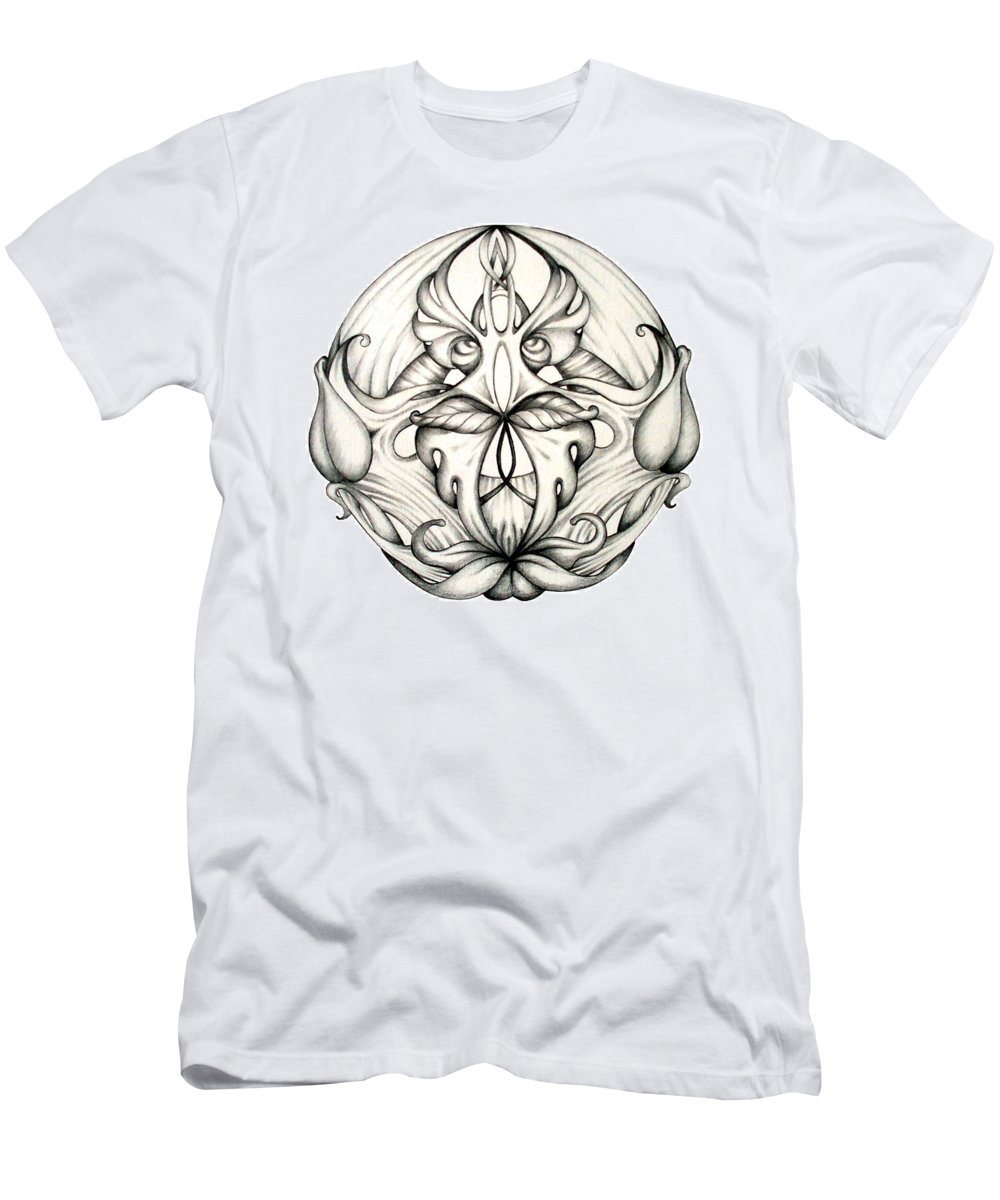 Mandala Men's T-Shirt (Athletic Fit) featuring the drawing Awakening by Shadia Derbyshire