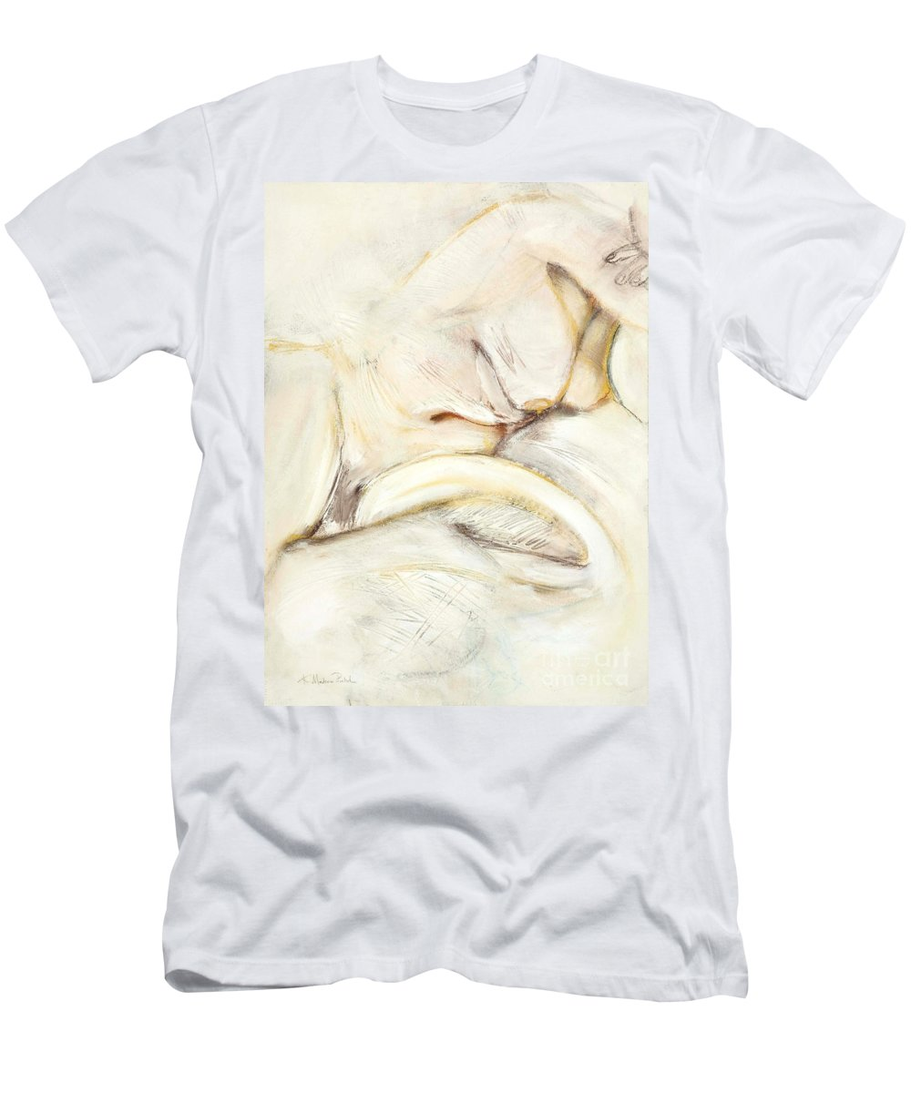Female Men's T-Shirt (Athletic Fit) featuring the drawing Award Winning Abstract Nude by Kerryn Madsen-Pietsch