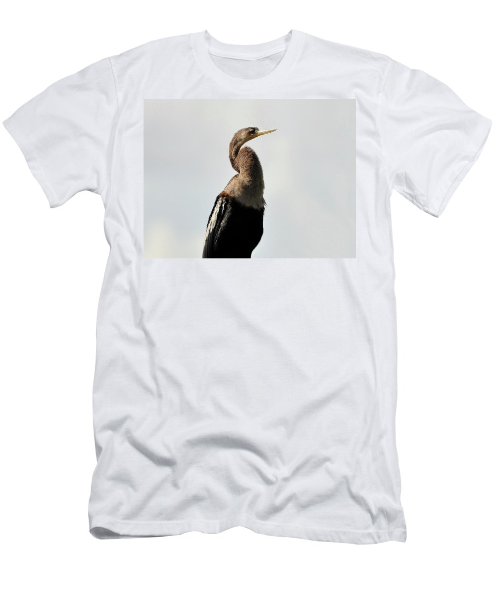 Awesome Men's T-Shirt (Athletic Fit) featuring the photograph Awesome Anhinga by Al Powell Photography USA