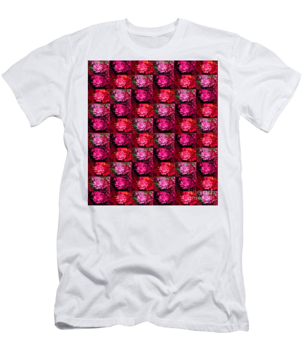 Azalea Men's T-Shirt (Athletic Fit) featuring the photograph Azalea Garden Canopy1 by Trent Jackson