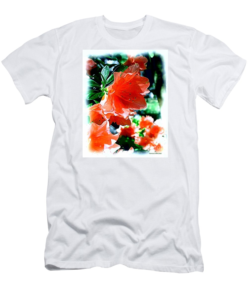 Fine Art Men's T-Shirt (Athletic Fit) featuring the painting Azaleas In The Spring by Patricia Griffin Brett