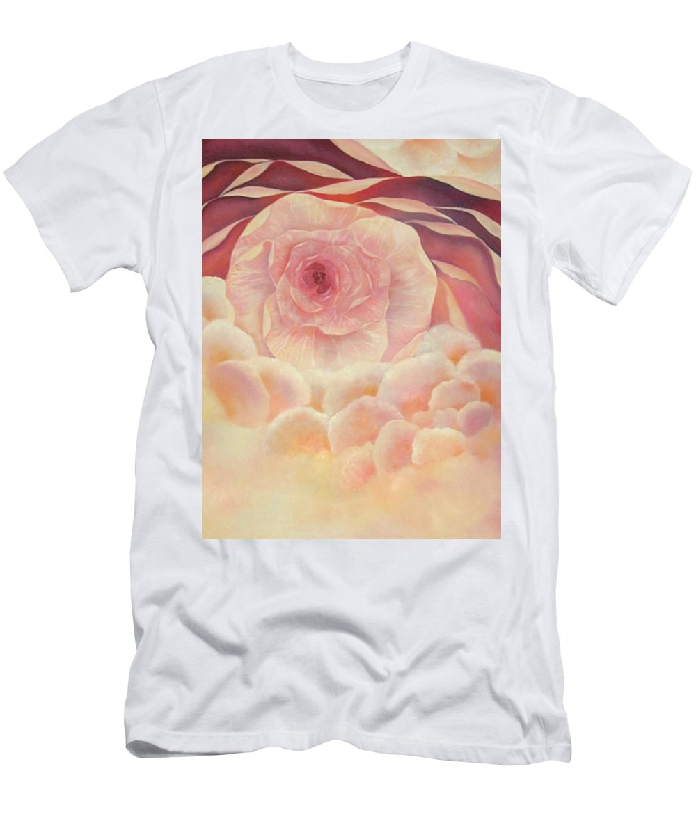 Oil Men's T-Shirt (Athletic Fit) featuring the painting Baby Rose by Peggy Guichu
