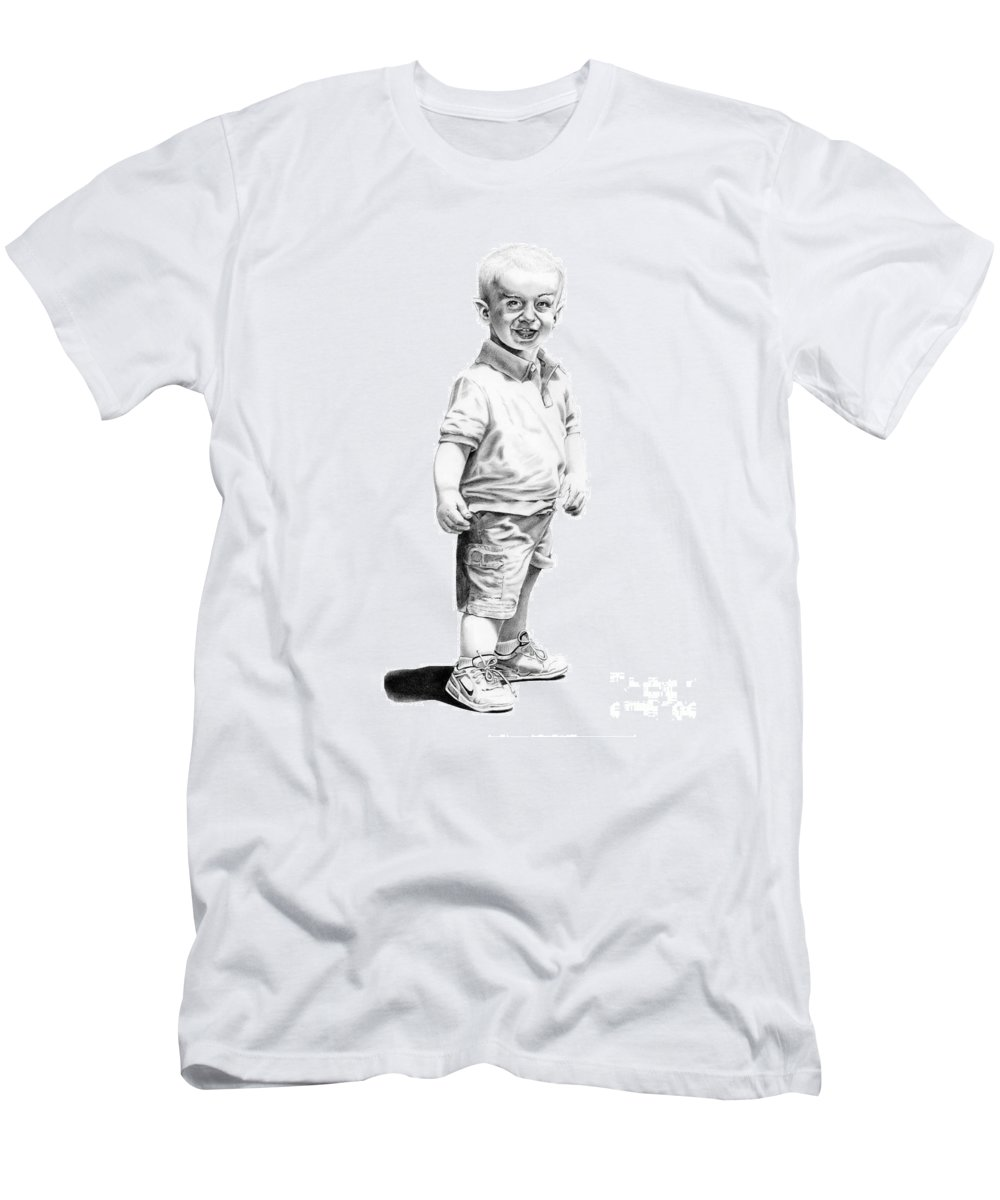 Vulcan Men's T-Shirt (Athletic Fit) featuring the drawing Baby Spock by Murphy Elliott