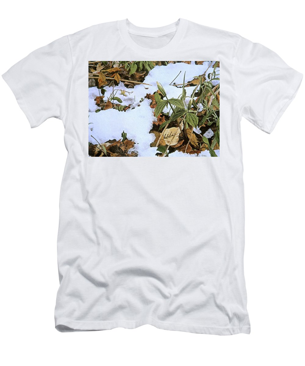 Still Life Men's T-Shirt (Athletic Fit) featuring the painting Back Forty by Conrad Mieschke