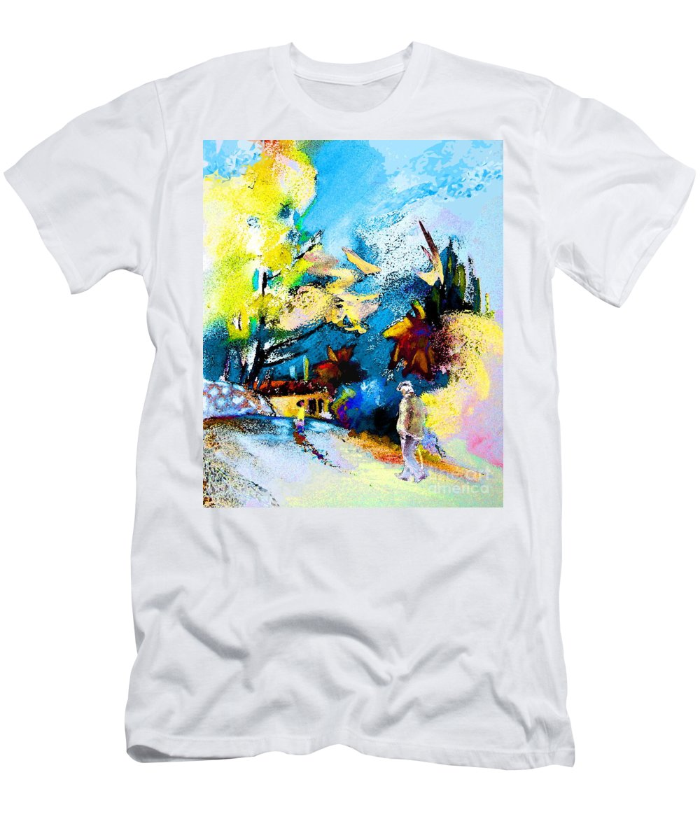 Pastel Painting Men's T-Shirt (Athletic Fit) featuring the painting Back Home by Miki De Goodaboom