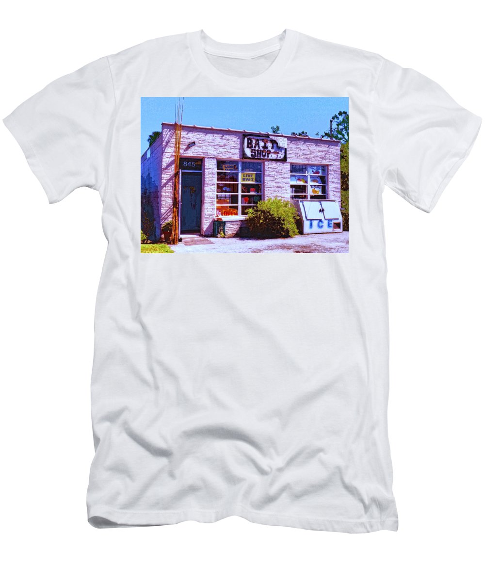Bait Shop Men's T-Shirt (Athletic Fit) featuring the mixed media Bait Shop by Dominic Piperata