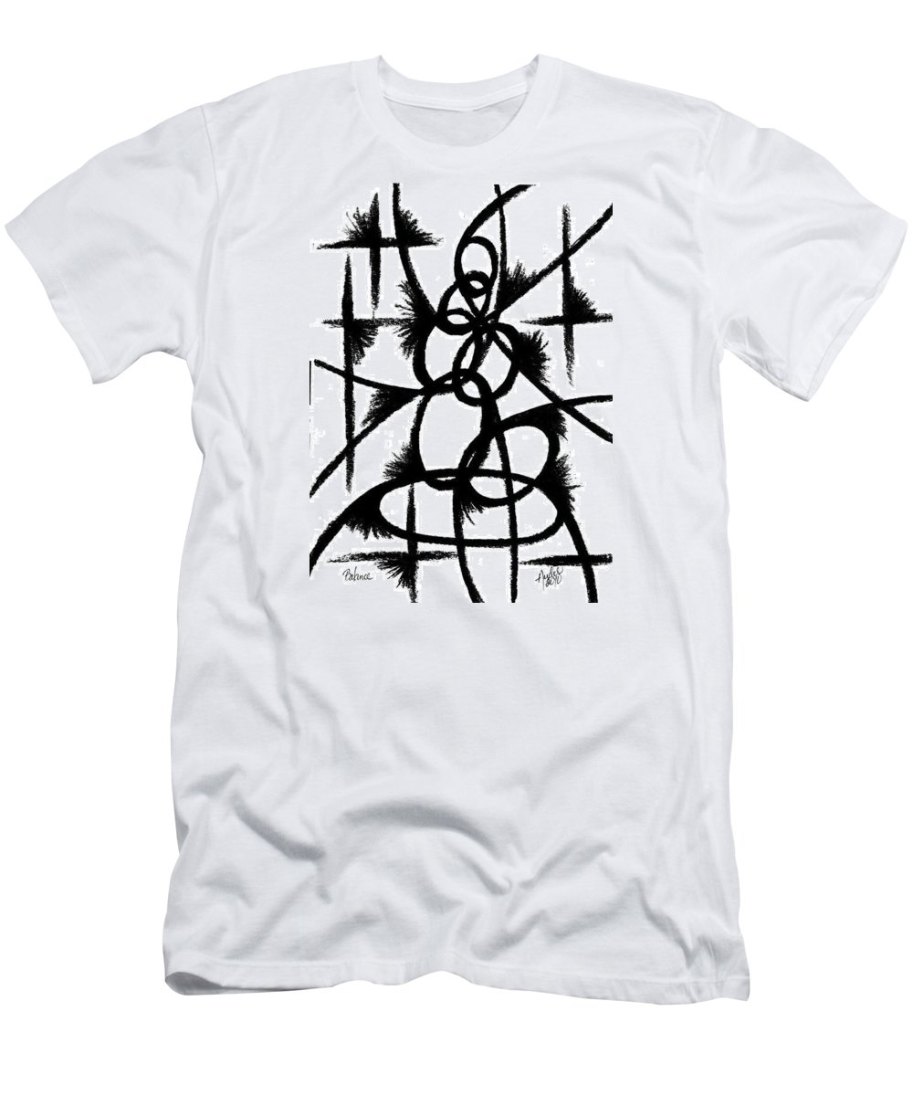 Modernist - Contemporany Men's T-Shirt (Athletic Fit) featuring the drawing Balance by Arides Pichardo