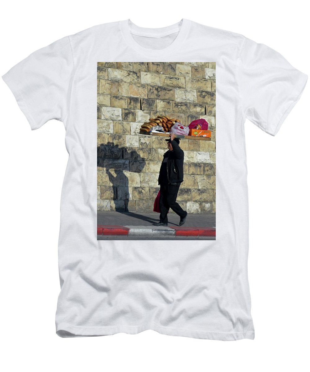Balancing Men's T-Shirt (Athletic Fit) featuring the photograph Balancing Act by Barbara Stellwagen