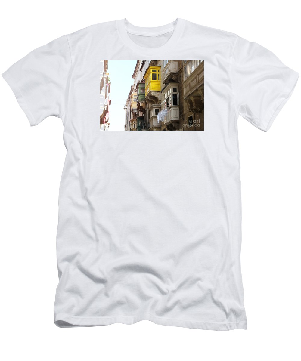 Balconies T-Shirt featuring the photograph Balconies Of Valletta 1 by Jasna Buncic