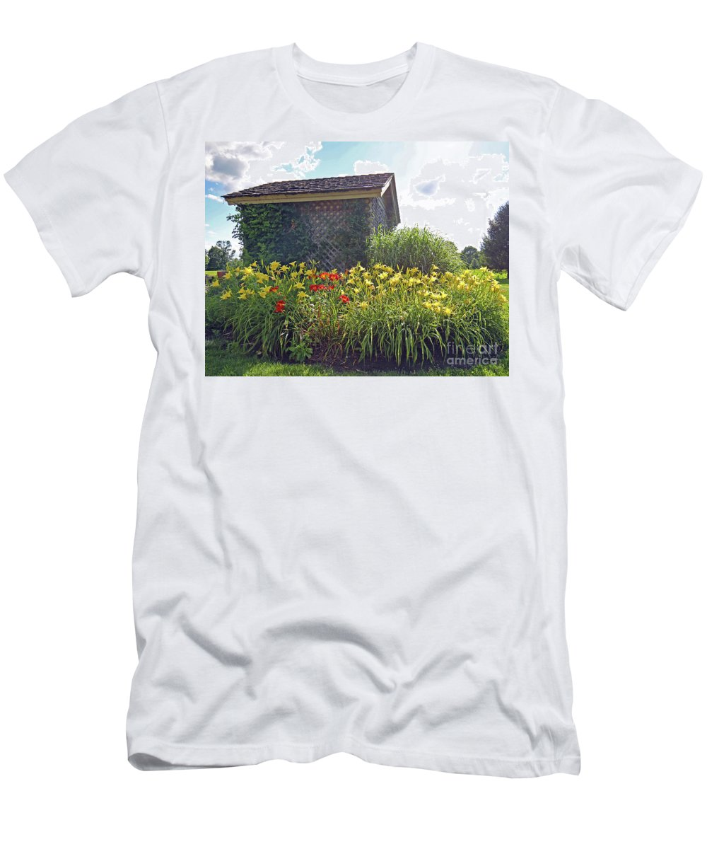 Lilies Men's T-Shirt (Athletic Fit) featuring the photograph Ball Shack by Steve Gass