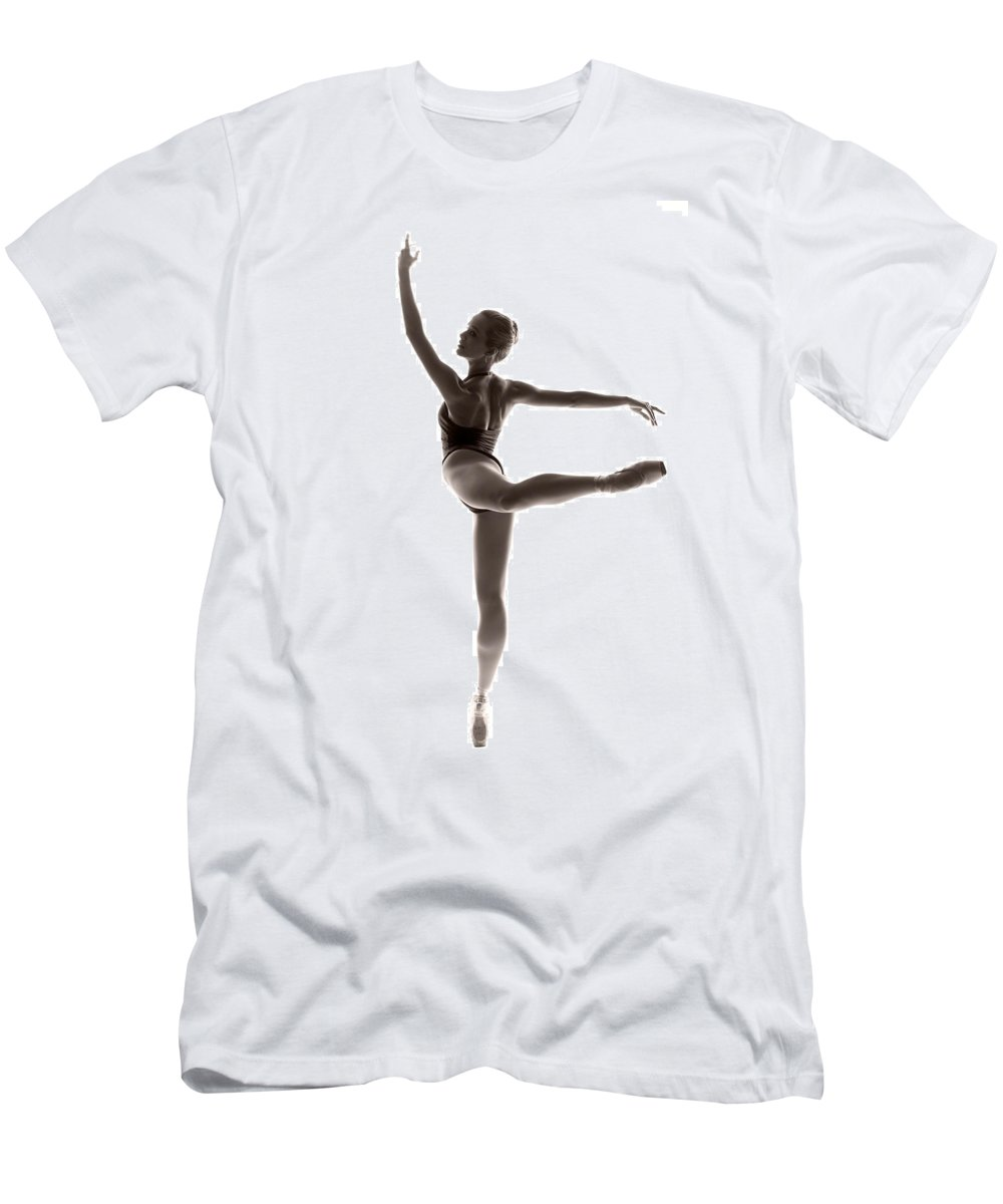 Ballerina Men's T-Shirt (Athletic Fit) featuring the photograph Ballerina Grace by Steve Williams