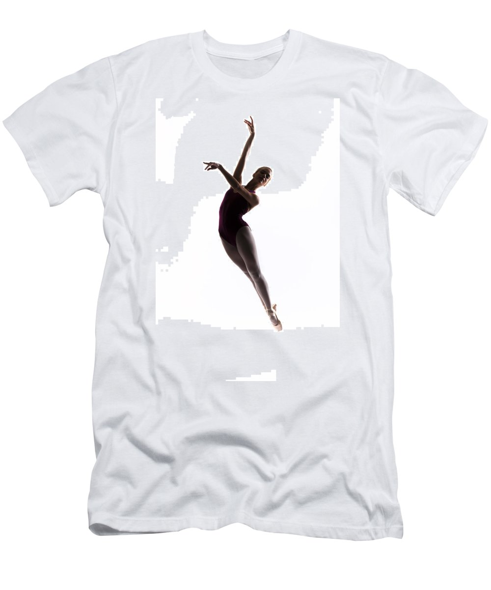 Ballerina Men's T-Shirt (Athletic Fit) featuring the photograph Ballerina Jump by Steve Williams