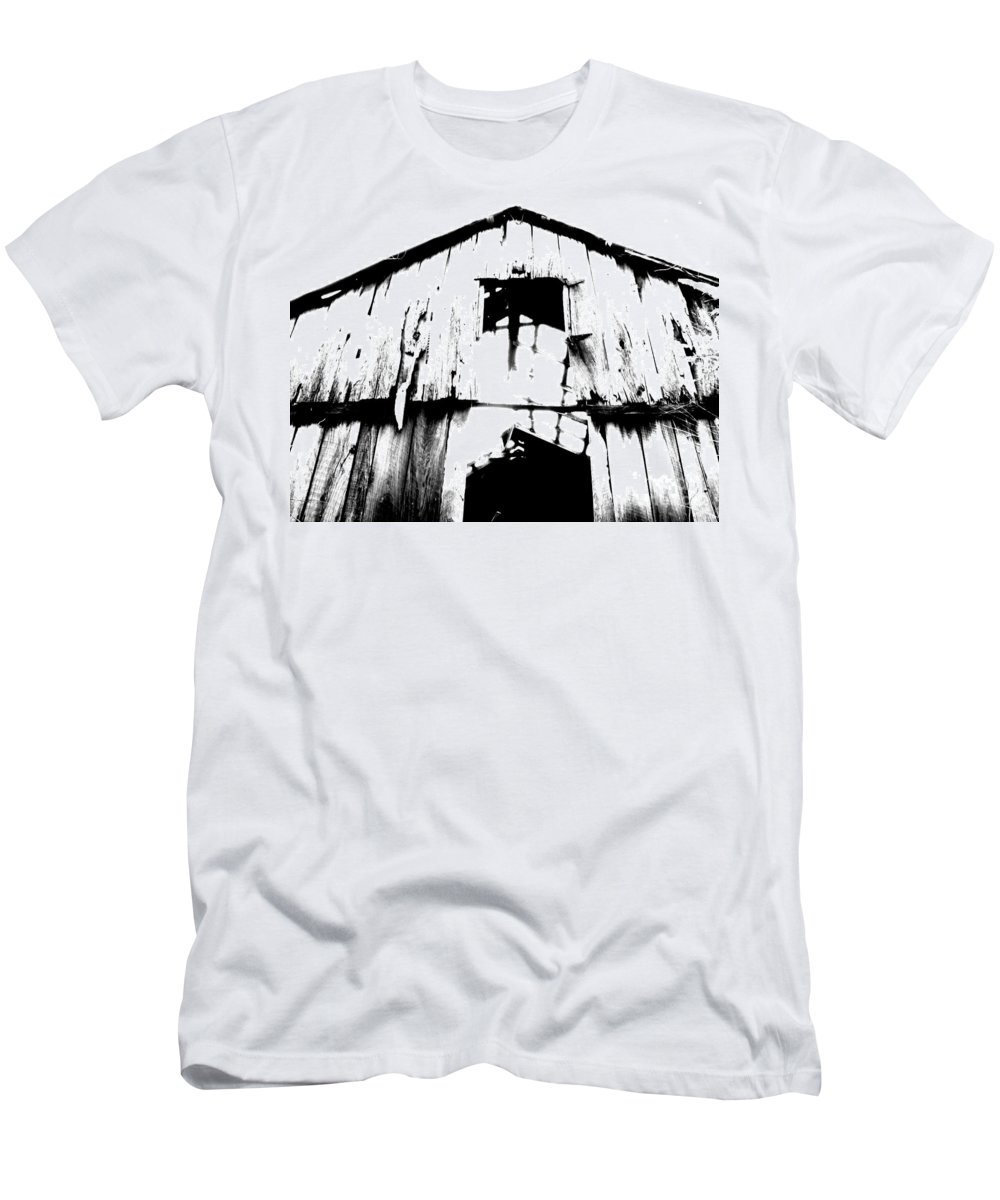 Barn Men's T-Shirt (Athletic Fit) featuring the photograph Barn by Amanda Barcon