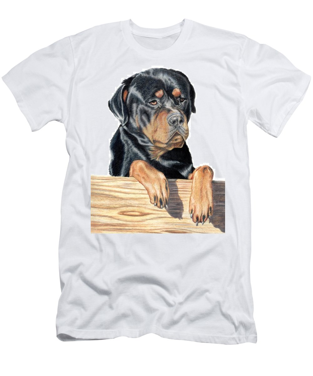 Dog Men's T-Shirt (Athletic Fit) featuring the drawing Bart by Kristen Wesch