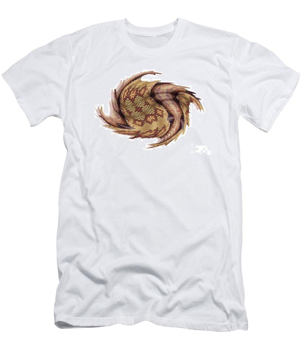 Basket Men's T-Shirt (Athletic Fit) featuring the digital art Basket Entering Black Hole by Ron Bissett
