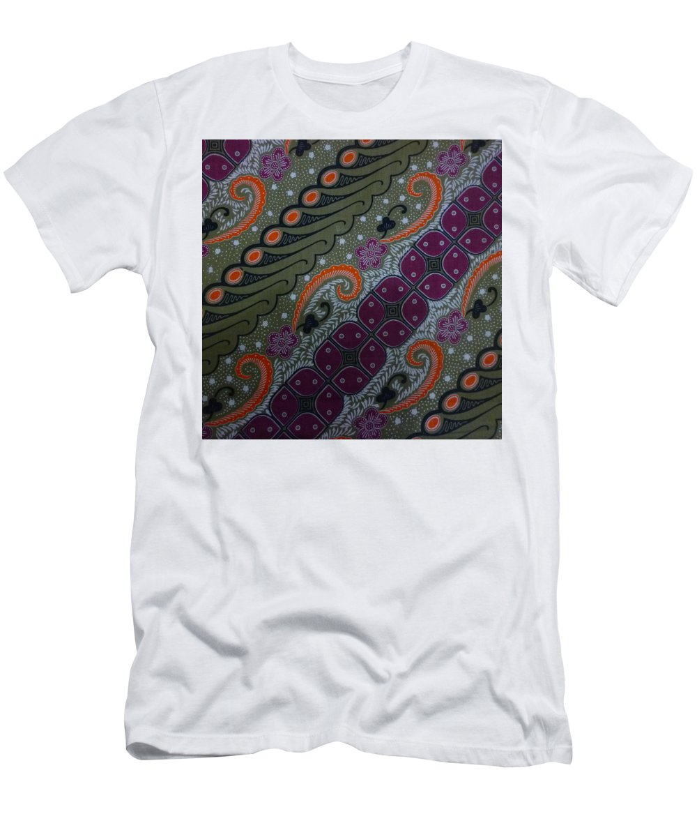Ethnic Men's T-Shirt (Athletic Fit) featuring the digital art Batik Art Pattern by Retno Musyakimah