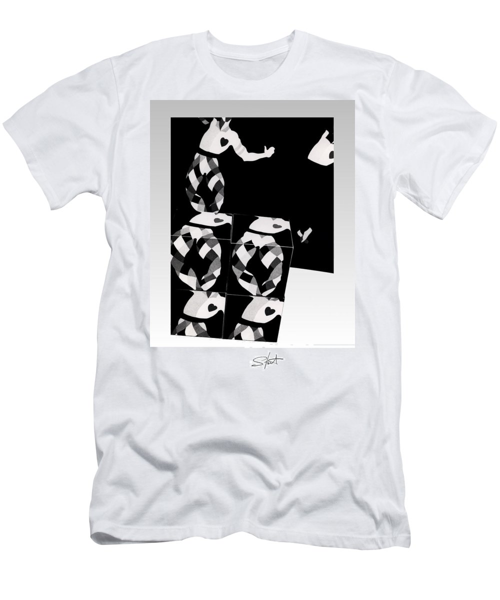 Dance Men's T-Shirt (Athletic Fit) featuring the photograph Bauhaus Ballet 2 The Cubist Harlequin by Charles Stuart